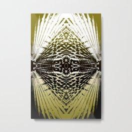 Shield of Gold Palms Metal Print