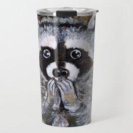 Mischief the Raccoon Travel Mug