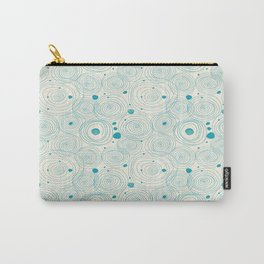 Blue Scribbles Pattern 04 Carry-All Pouch
