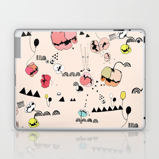 Poppies Print Laptop & iPad Skin