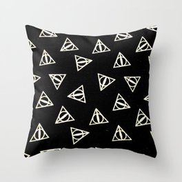 Deathly Harry Throw Pillow