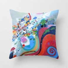 The first day of spring Throw Pillow