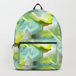 Green And Blue Abstract Backpack