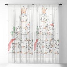 Oh Penguin Tree Sheer Curtain