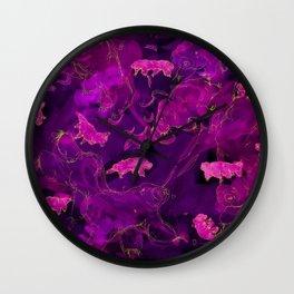 Watercolor Tardigrade Illustration Wall Clock