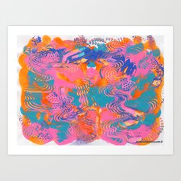 Abstract Fun Bold and Bright Art Print