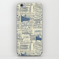 shoe iPhone & iPod Skins featuring Shoe by Becca Hardingham