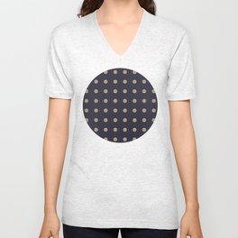 Polka dot pattern Unisex V-Neck