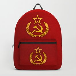 Hammer and Sickle Textured Flag Backpack