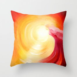 Soul journey into the light Throw Pillow