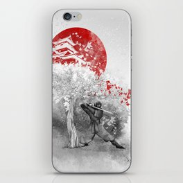 The warrior and the wind iPhone Skin