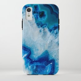 Royally Blue Agate iPhone Case