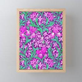 William Morris Irises, Amethyst Purple Framed Mini Art Print