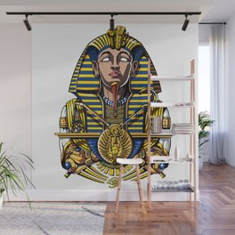 Egyptian Pharaoh Tutankhamun King Tut Wall Mural