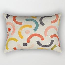 mid century geometry abstract Rectangular Pillow