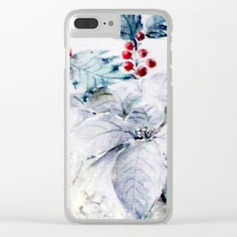 Merry Christmas Clear iPhone Case