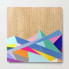 Geometric Color-Design in Wood Metal Print