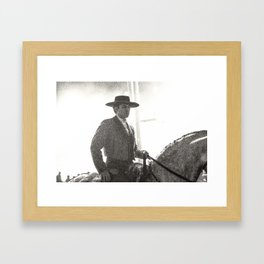 le cavalier dans la lumière Framed Art Print