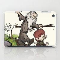 gandalf iPad Cases featuring Bilbo and Gandalf by Cool Johnny