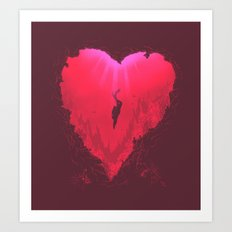 dive into your heart Art Print