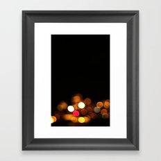 Bokeh Streetlights Framed Art Print