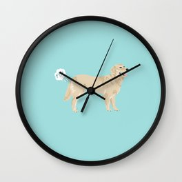 golden retriever funny farting dog breed gifts Wall Clock