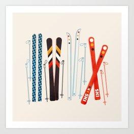 Retro Ski Illustration Art Print