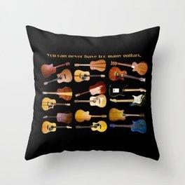 Guitars Galore Throw Pillow