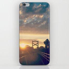 Sunrise At A Pedestrian Bridge iPhone Skin