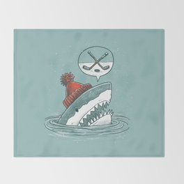 Hockey Shark Throw Blanket