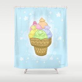 Fluff Sherbert Shower Curtain