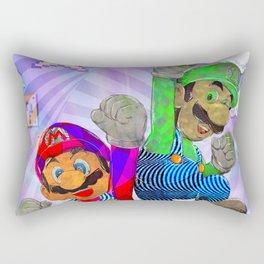 Pop Art Mario Brothers Rectangular Pillow