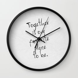 Together 01 Wall Clock