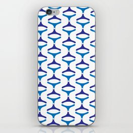 Negative Waves: Shades of Blue iPhone Skin