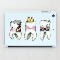 tooth iPad Cases featuring Rotten Tooth, Crowned Tooth and Wisdom Tooth by Hungry Designs