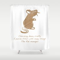 rat Shower Curtains featuring Rat by Gothic Panda