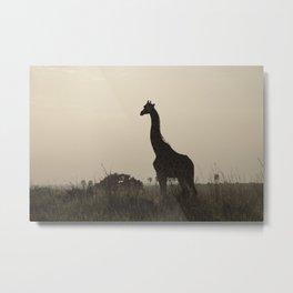 The Giraffe Silhouette Metal Print