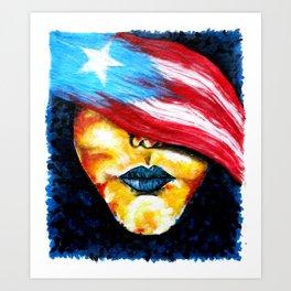 PUERTORICAN GIRL Art Print