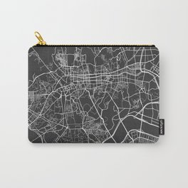 Seoul Map, South Korea - Gray Carry-All Pouch