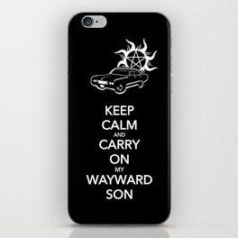 Keep Calm and Carry On my Wayward Son iPhone Skin