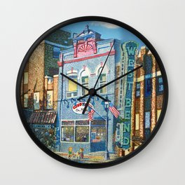 Downtown West Bend Painting Wall Clock
