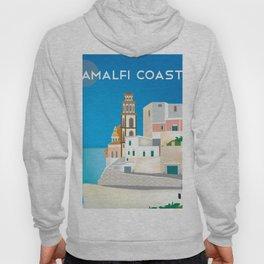 Amalfi Coast, Italy - Skyline Illustration by Loose Petals Hoody