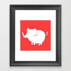 White Elephant Framed Art Print