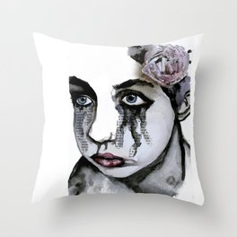 Cry Out Your Thoughts Throw Pillow