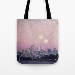 Where We Left Our Hearts Tote Bag