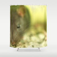rat Shower Curtains featuring Rat... by Nature In Art...