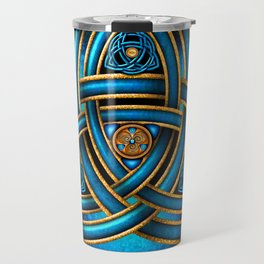 Blue Celtic Triquetra Knot Travel Mug