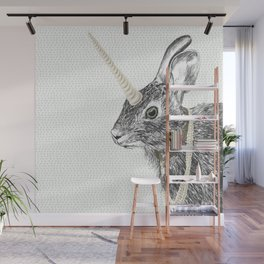 uni-hare All animals are magical Wall Mural