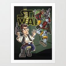 Star Wars - Han Solo x Bobba Fett Art Print