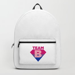 Team B Bisexual Symbol - Bi Sexual Flag Sign Gift Design Backpack